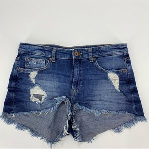 H&M jean shorts distressed